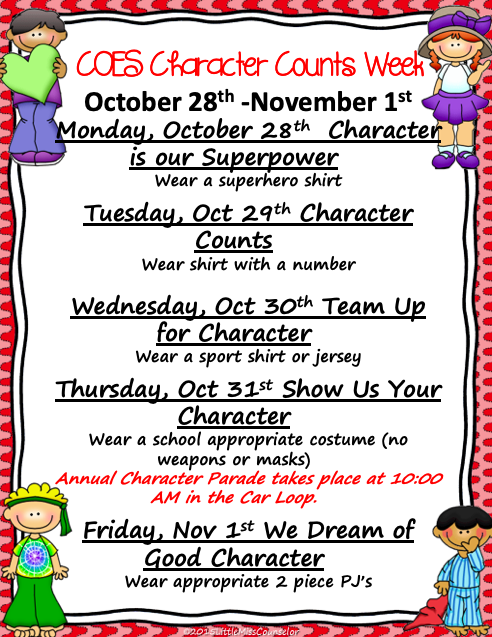 COES Character Counts Week
